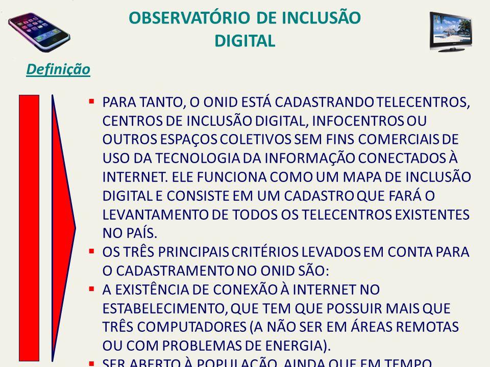 OBSERVATÓRIO DE INCLUSÃO DIGITAL