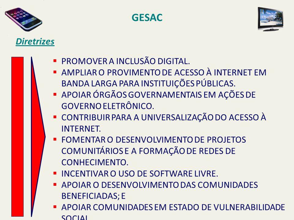 GESAC Diretrizes PROMOVER A INCLUSÃO DIGITAL.
