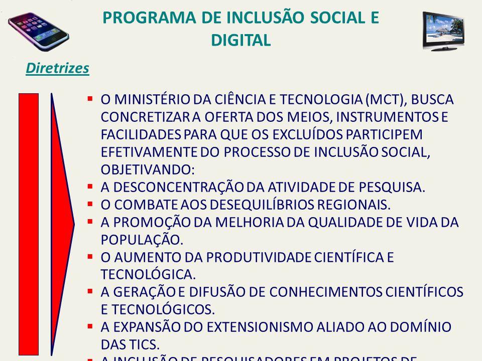 PROGRAMA DE INCLUSÃO SOCIAL E DIGITAL