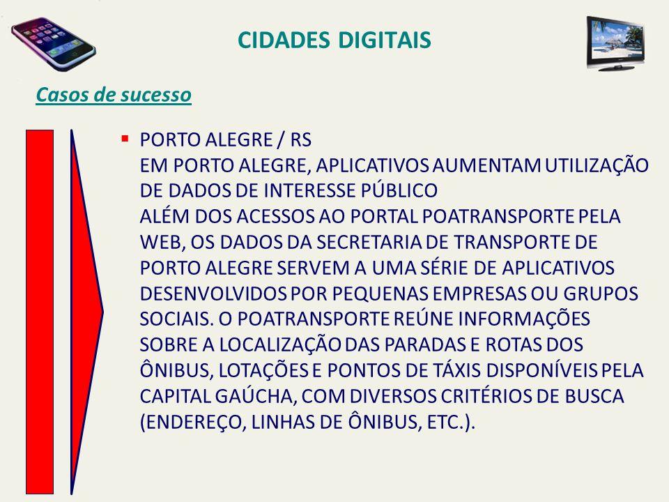 CIDADES DIGITAIS Casos de sucesso