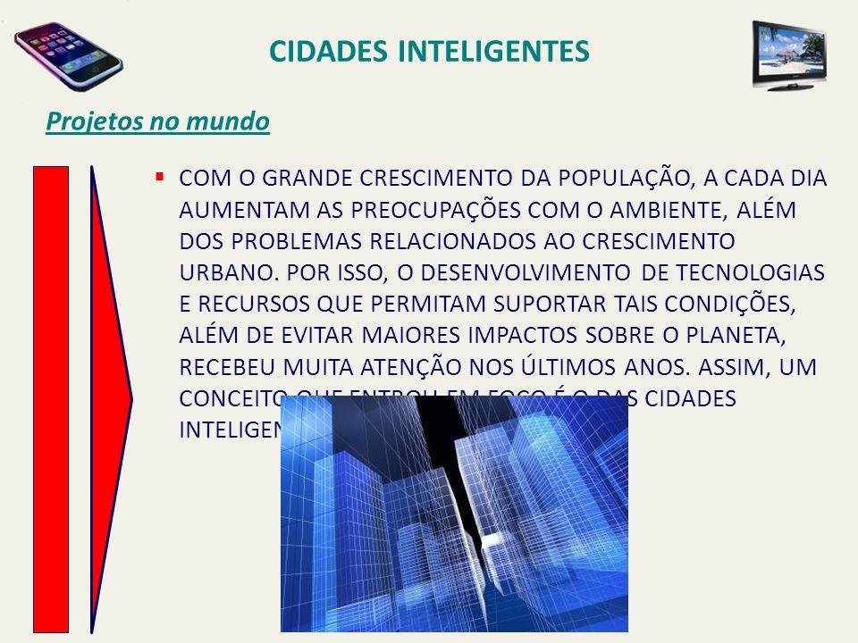 CIDADES INTELIGENTES Projetos no mundo