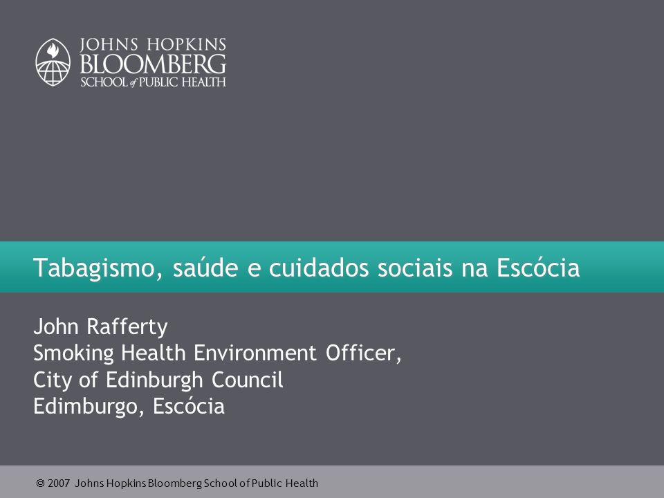 Tabagismo, saúde e cuidados sociais na Escócia