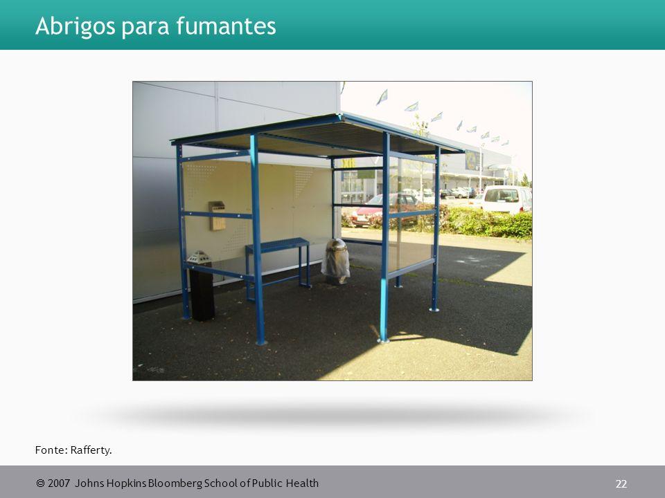 Abrigos para fumantes Fonte: Rafferty.