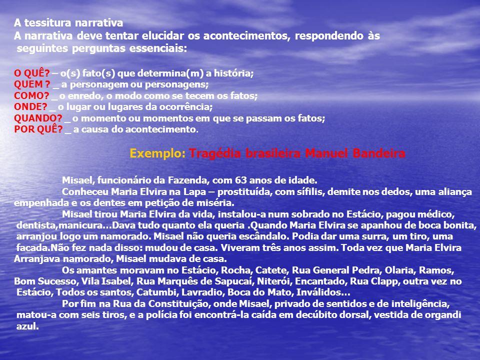 Exemplo: Tragédia brasileira Manuel Bandeira