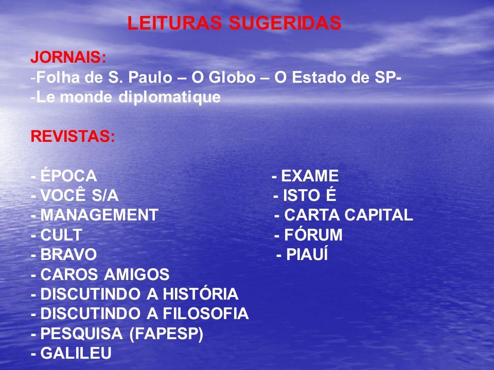 LEITURAS SUGERIDAS JORNAIS: