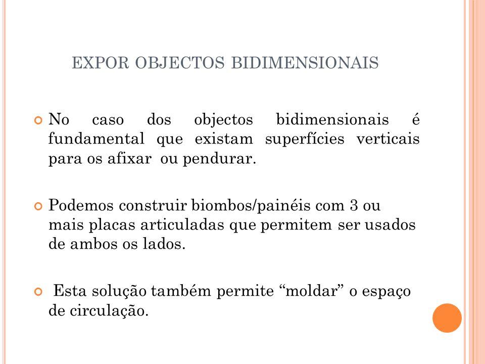 expor objectos bidimensionais
