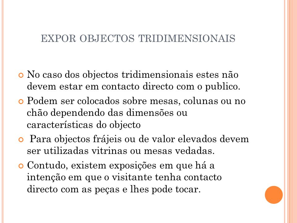 expor objectos tridimensionais