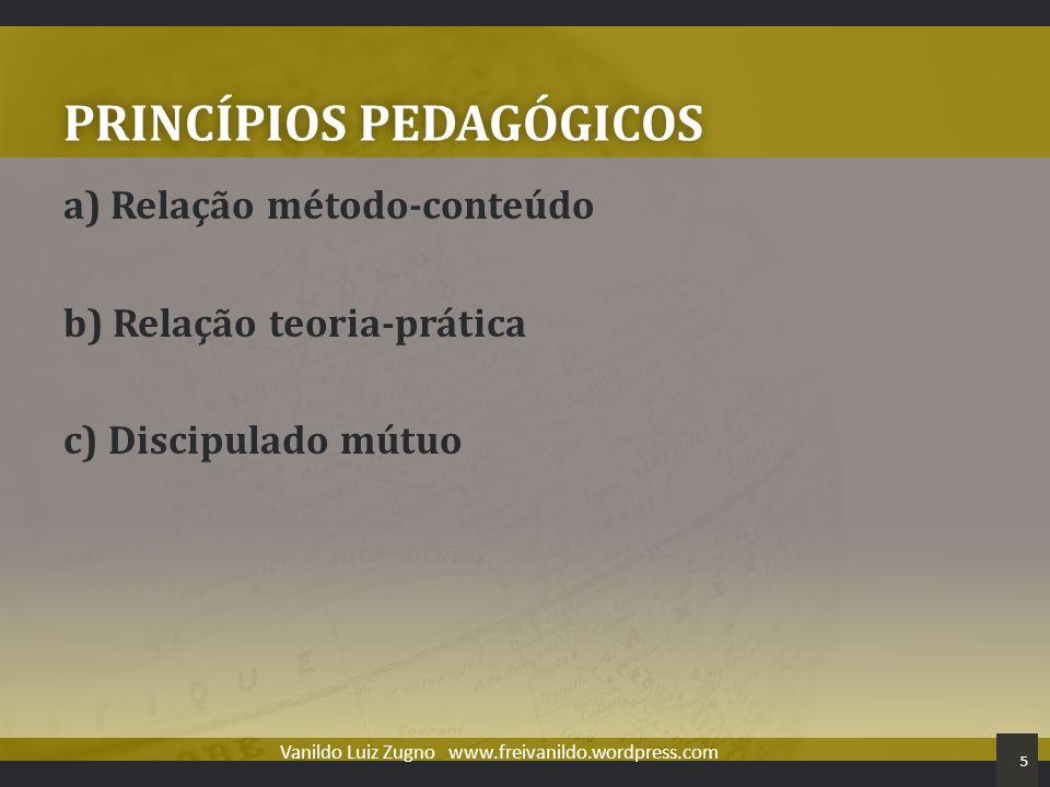 PRINCÍPIOS PEDAGÓGICOS