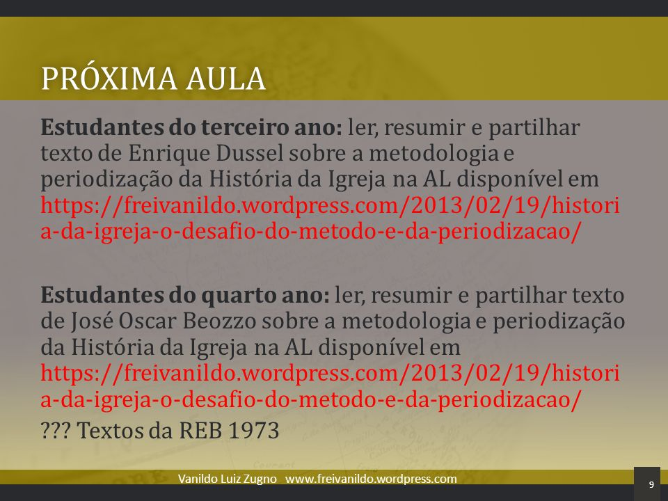 Vanildo Luiz Zugno www.freivanildo.wordpress.com