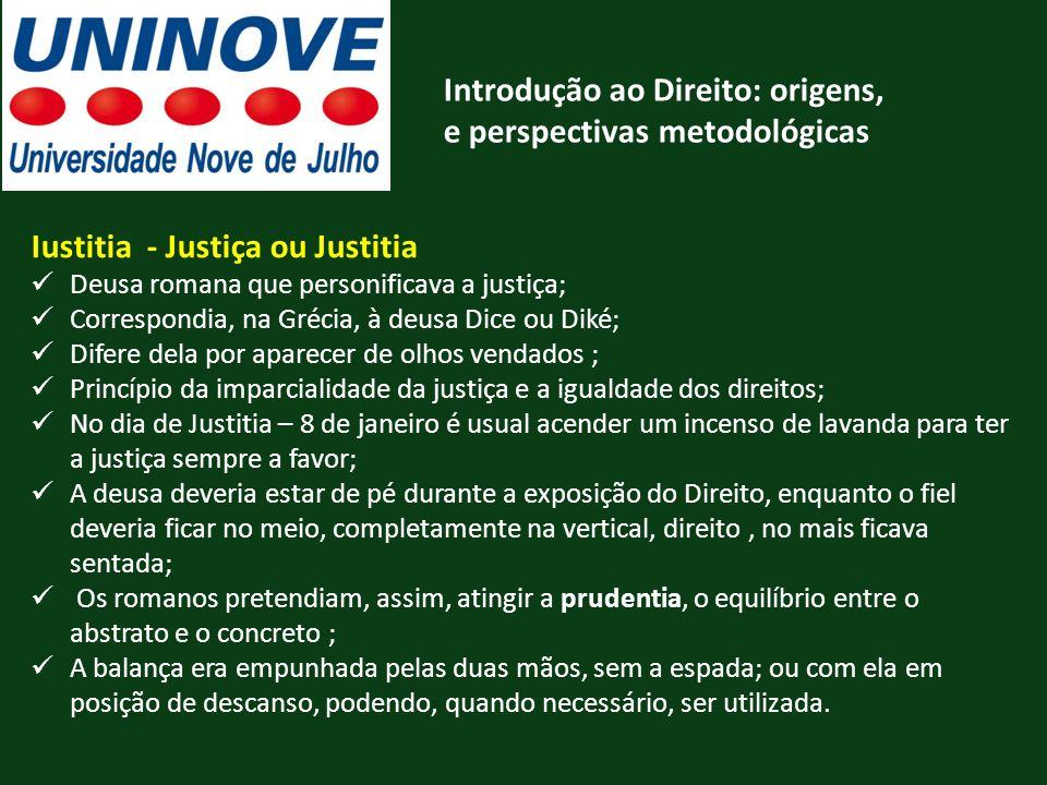 Introdução ao Direito: origens, e perspectivas metodológicas