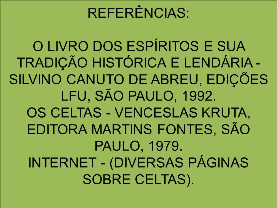REFERÊNCIAS: O LIVRO DOS ESPÍRITOS E SUA TRADIÇÃO HISTÓRICA E LENDÁRIA - SILVINO CANUTO DE ABREU, EDIÇÕES LFU, SÃO PAULO, 1992.