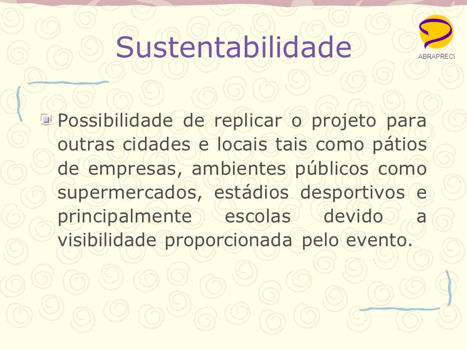 ABRAPRECI Sustentabilidade.