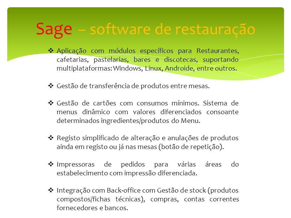 Sage – software de restauração