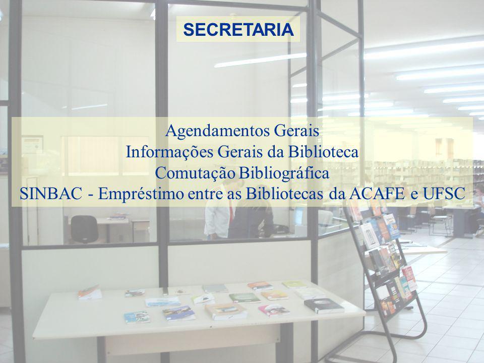 Informações Gerais da Biblioteca Comutação Bibliográfica