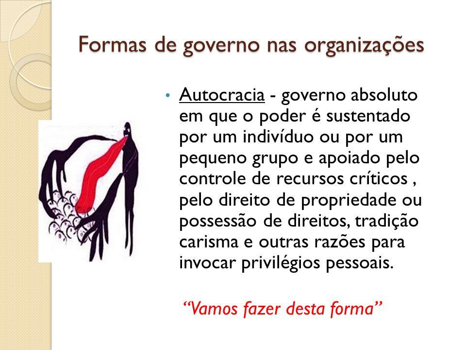 Formas de governo nas organizações