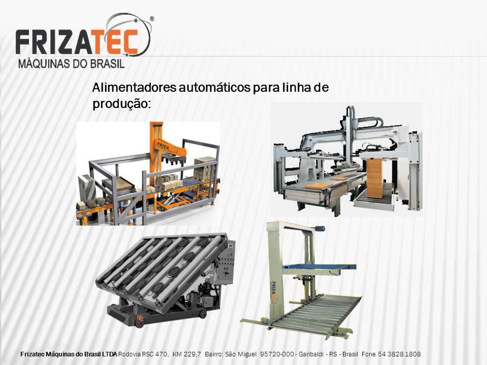 Alimentadores automáticos para linha de produção: