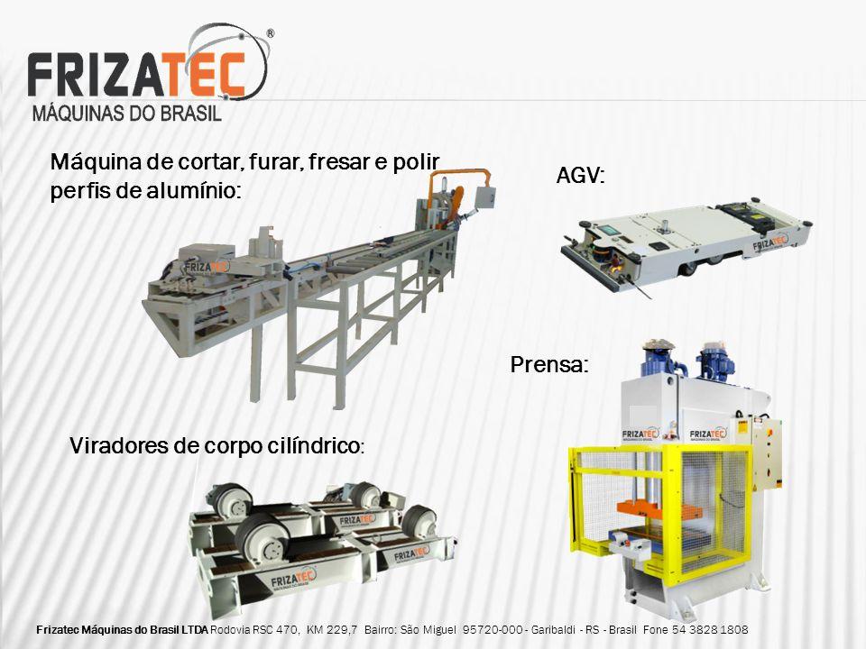 Máquina de cortar, furar, fresar e polir perfis de alumínio: AGV: