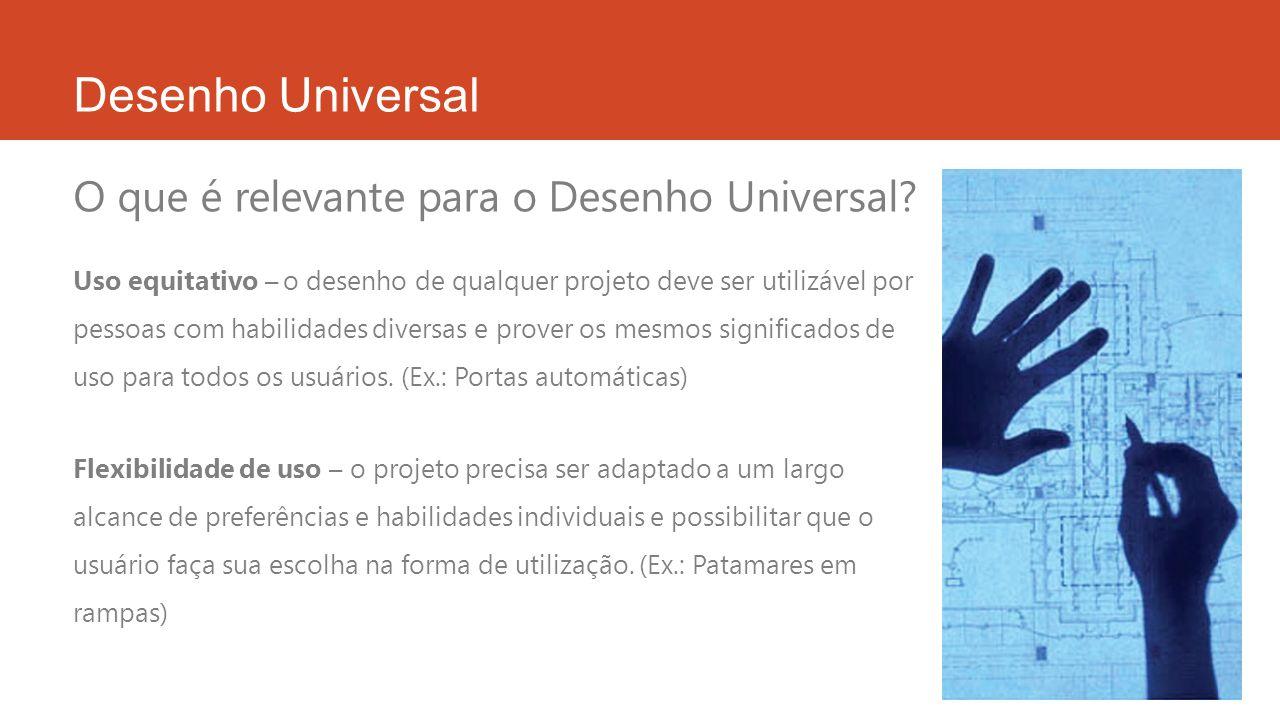 Desenho Universal O que é relevante para o Desenho Universal