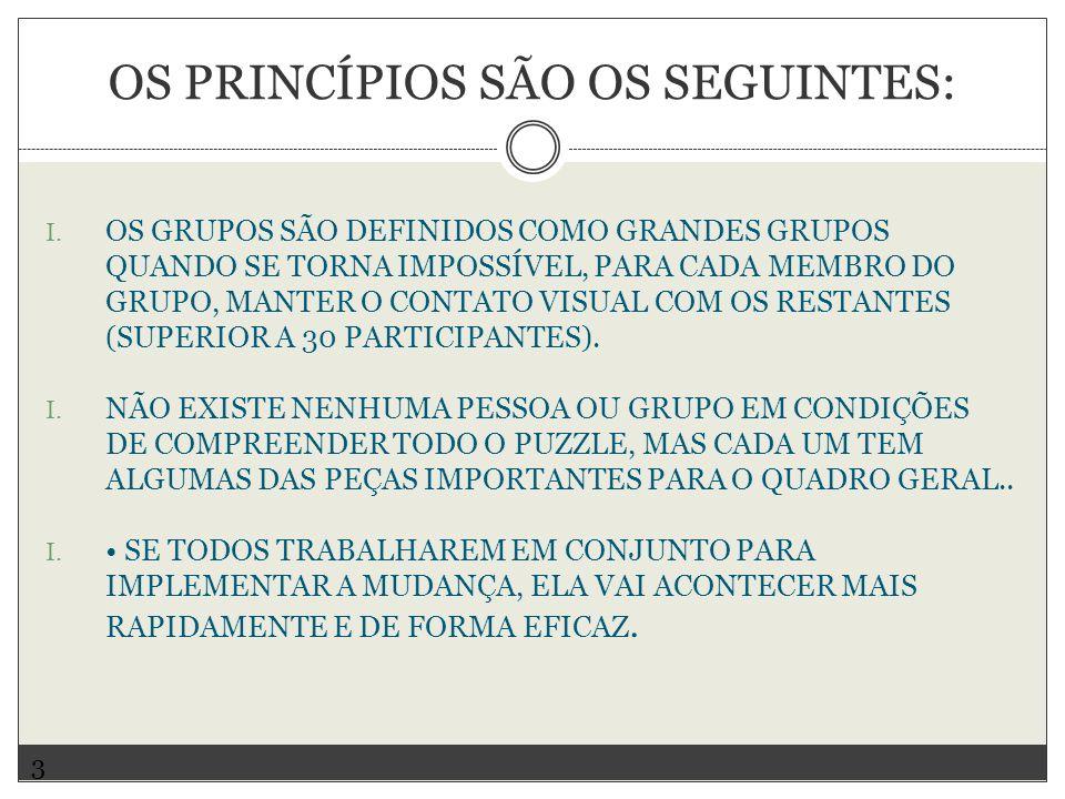 Os princípios são os seguintes: