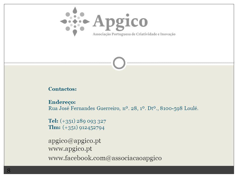 apgico@apgico.pt www.apgico.pt www.facebook.com@associacaoapgico 8