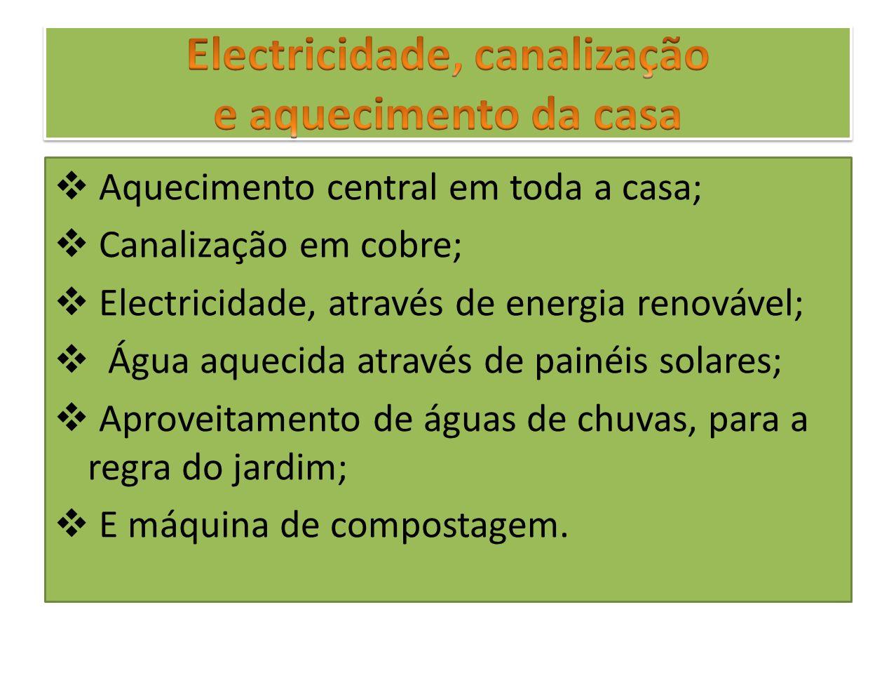Electricidade, canalização e aquecimento da casa