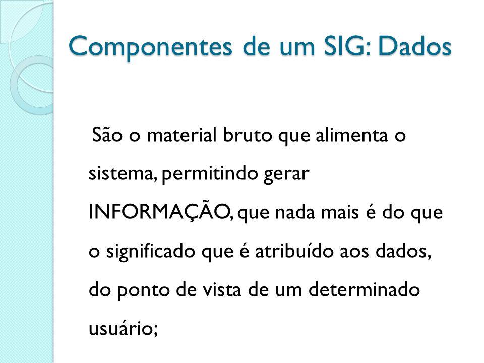 Componentes de um SIG: Dados