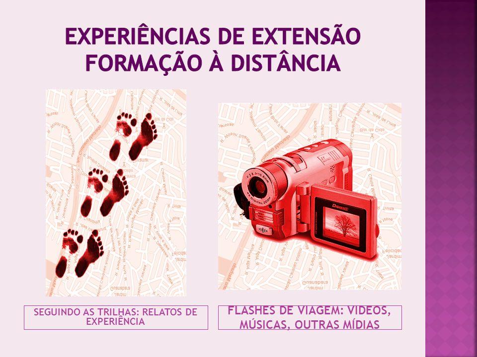 EXPERIÊNCIAS DE EXTENSÃO FORMAÇÃO À DISTÂNCIA