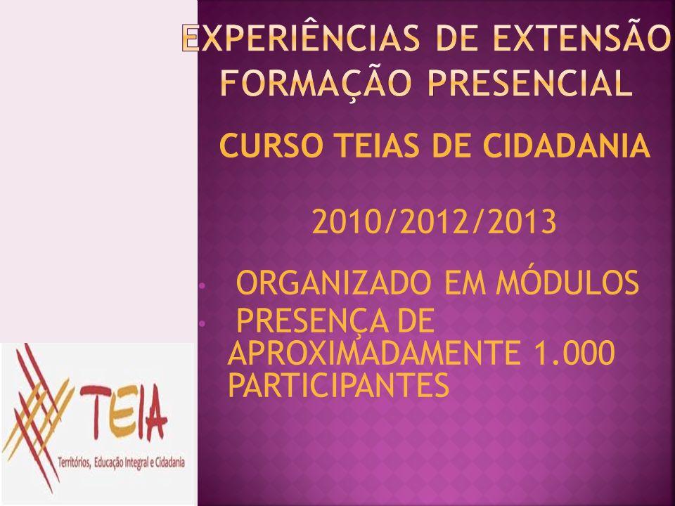 EXPERIÊNCIAS DE EXTENSÃO FORMAÇÃO PRESENCIAL
