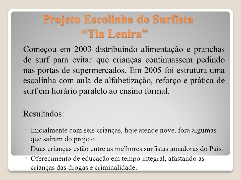 Projeto Escolinha do Surfista Tia Lenira