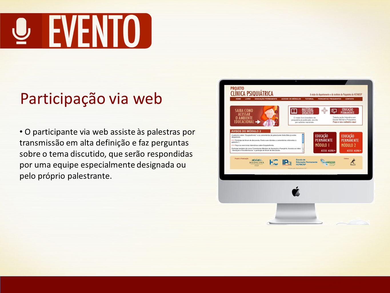 Participação via web