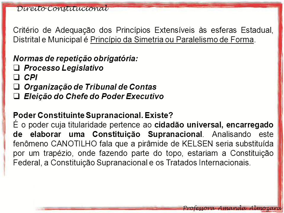 Normas de repetição obrigatória: Processo Legislativo CPI