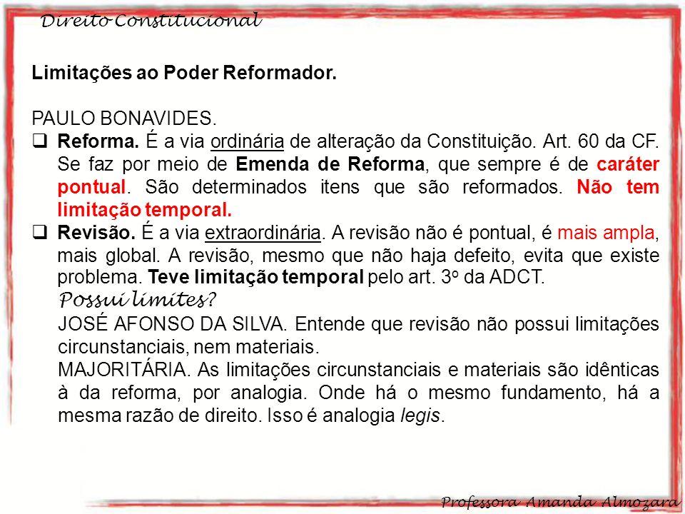 Limitações ao Poder Reformador. PAULO BONAVIDES.