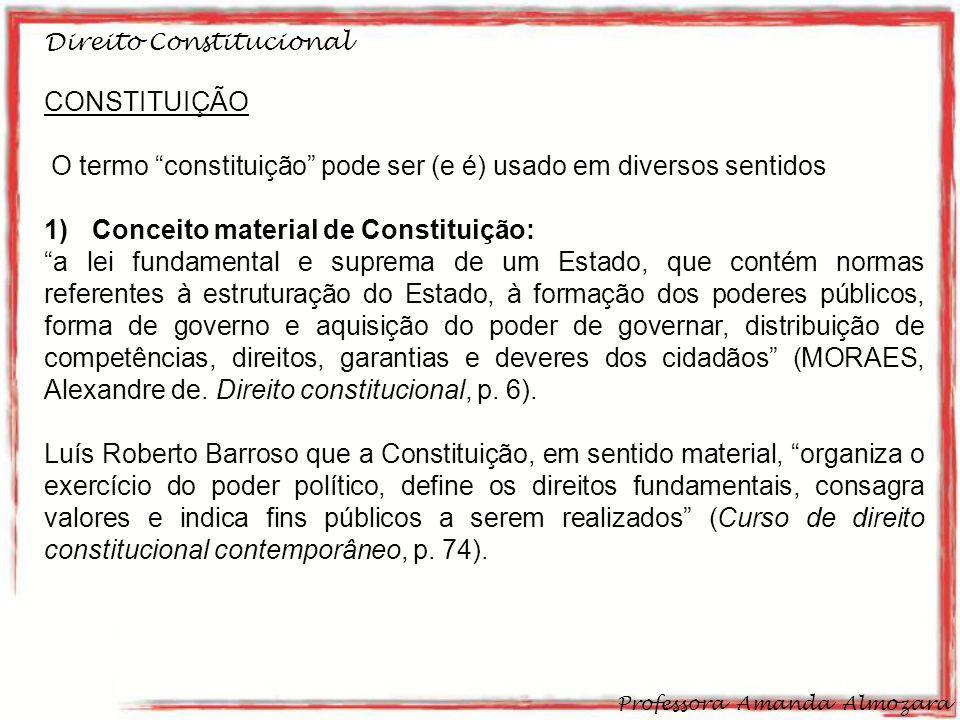 O termo constituição pode ser (e é) usado em diversos sentidos