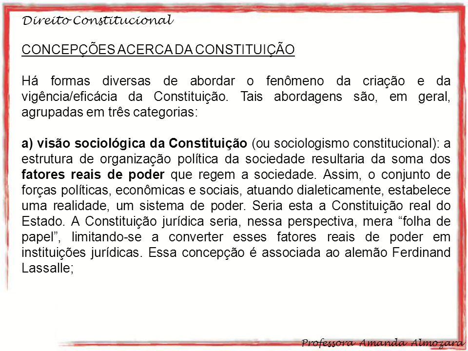 CONCEPÇÕES ACERCA DA CONSTITUIÇÃO