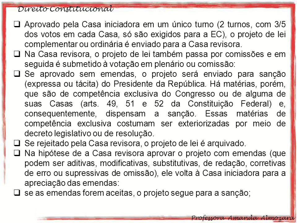 Se rejeitado pela Casa revisora, o projeto de lei é arquivado.