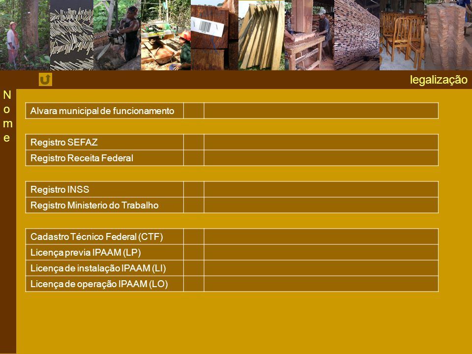 legalização Nome Alvara municipal de funcionamento Registro SEFAZ