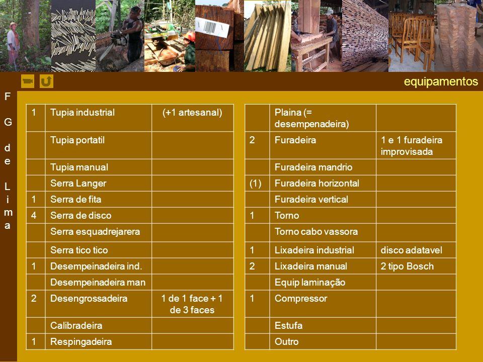 equipamentos F G de Lima 1 Tupia industrial (+1 artesanal)