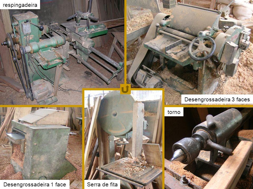 fotos equipamentos respingadeira Desengrossadeira 3 faces torno