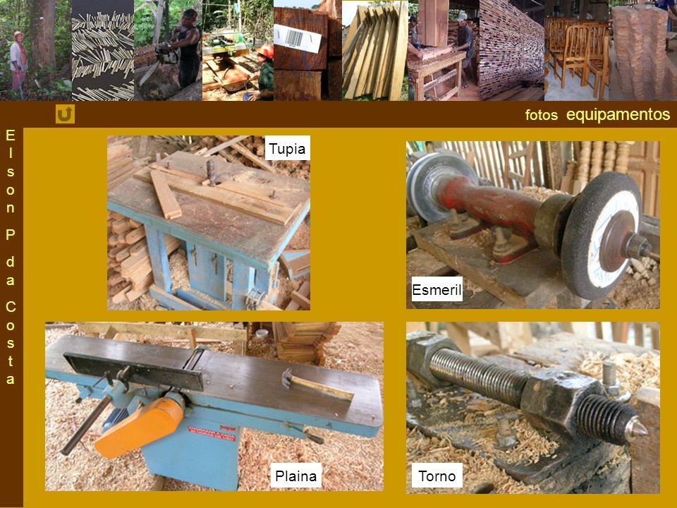 Elson P da Costa fotos equipamentos Tupia Esmeril Plaina Torno