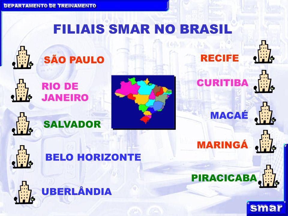 FILIAIS SMAR NO BRASIL RECIFE SÃO PAULO CURITIBA RIO DE JANEIRO MACAÉ