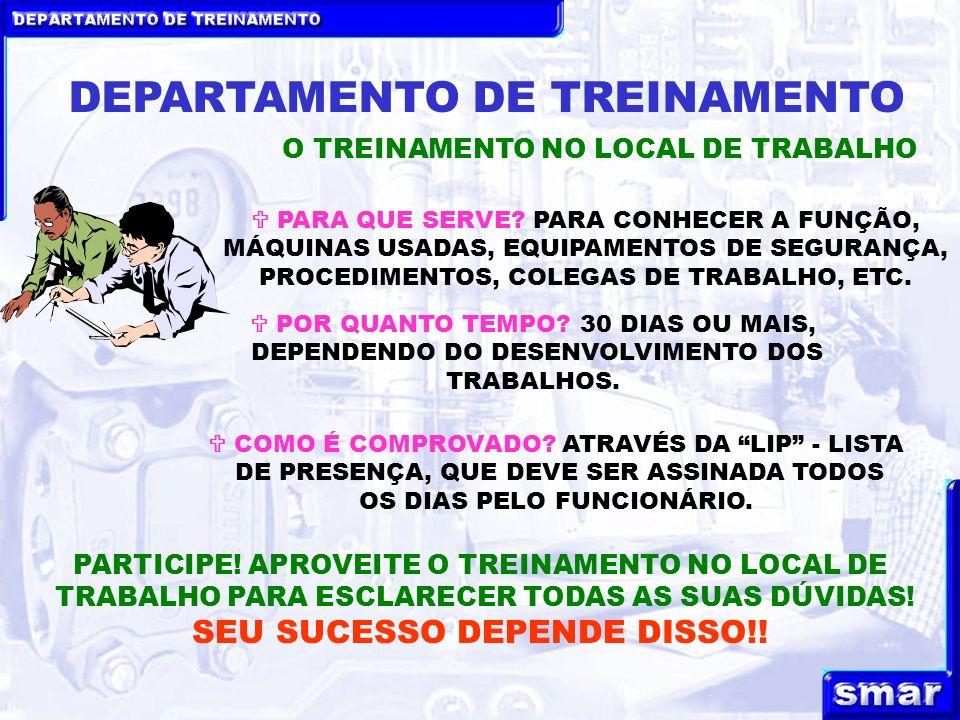 DEPARTAMENTO DE TREINAMENTO