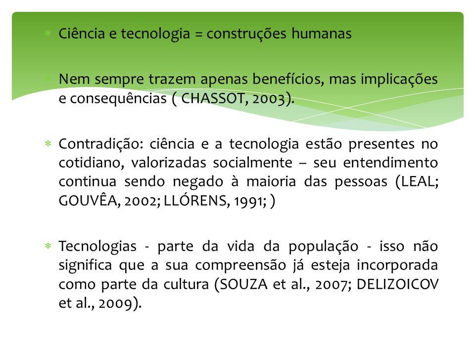 Ciência e tecnologia = construções humanas