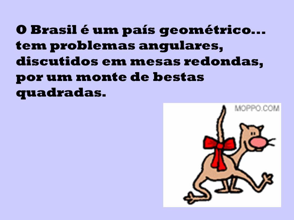 O Brasil é um país geométrico...
