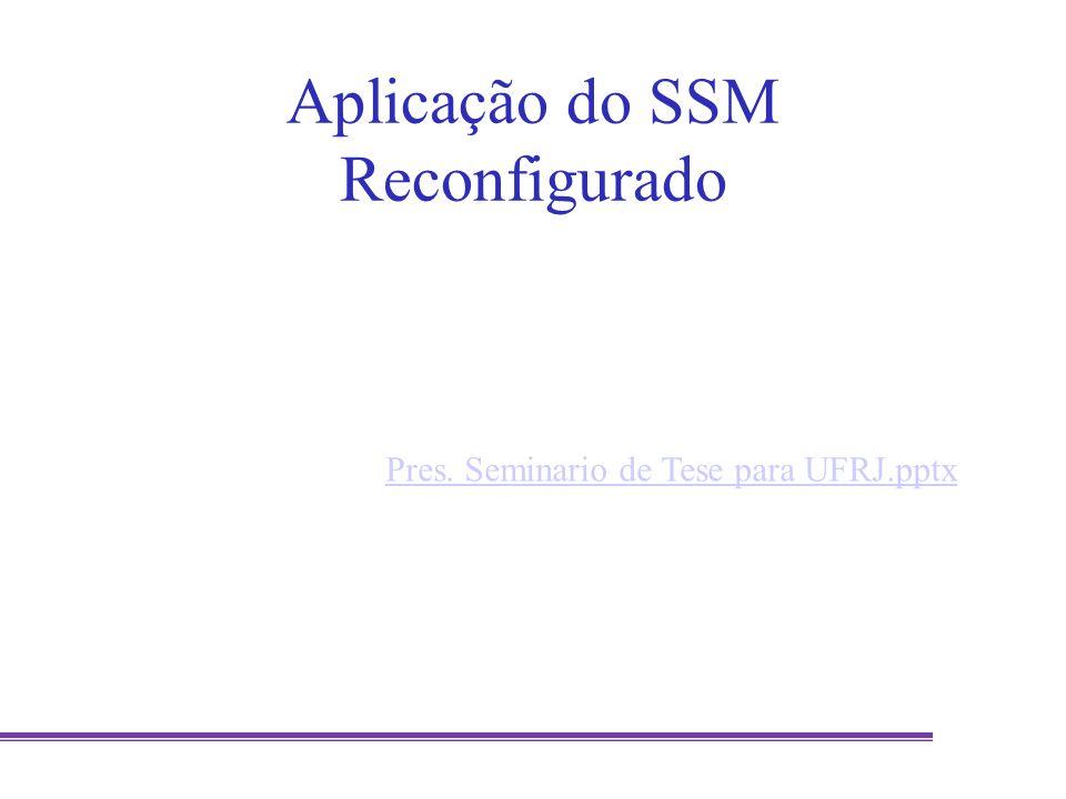 Aplicação do SSM Reconfigurado