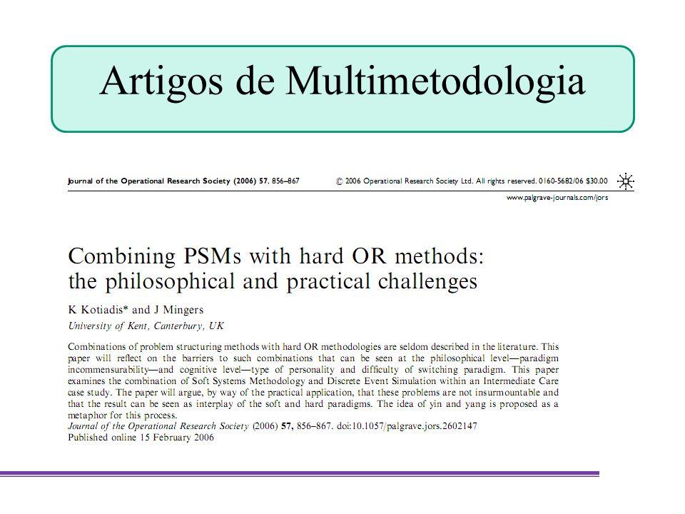 Artigos de Multimetodologia