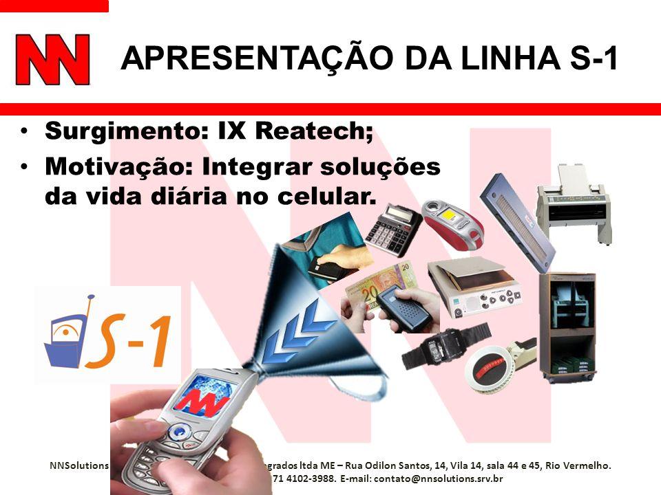 APRESENTAÇÃO DA LINHA S-1