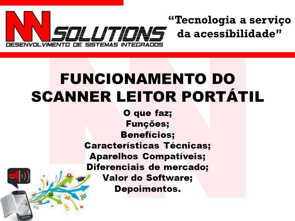 FUNCIONAMENTO DO SCANNER LEITOR PORTÁTIL