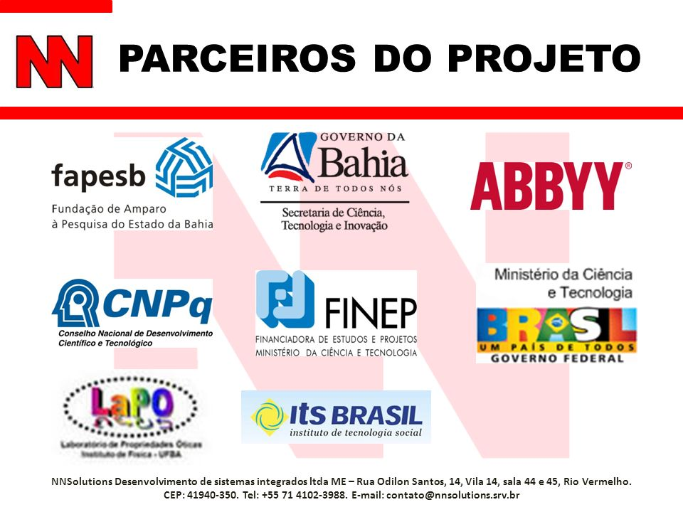 PARCEIROS DO PROJETO