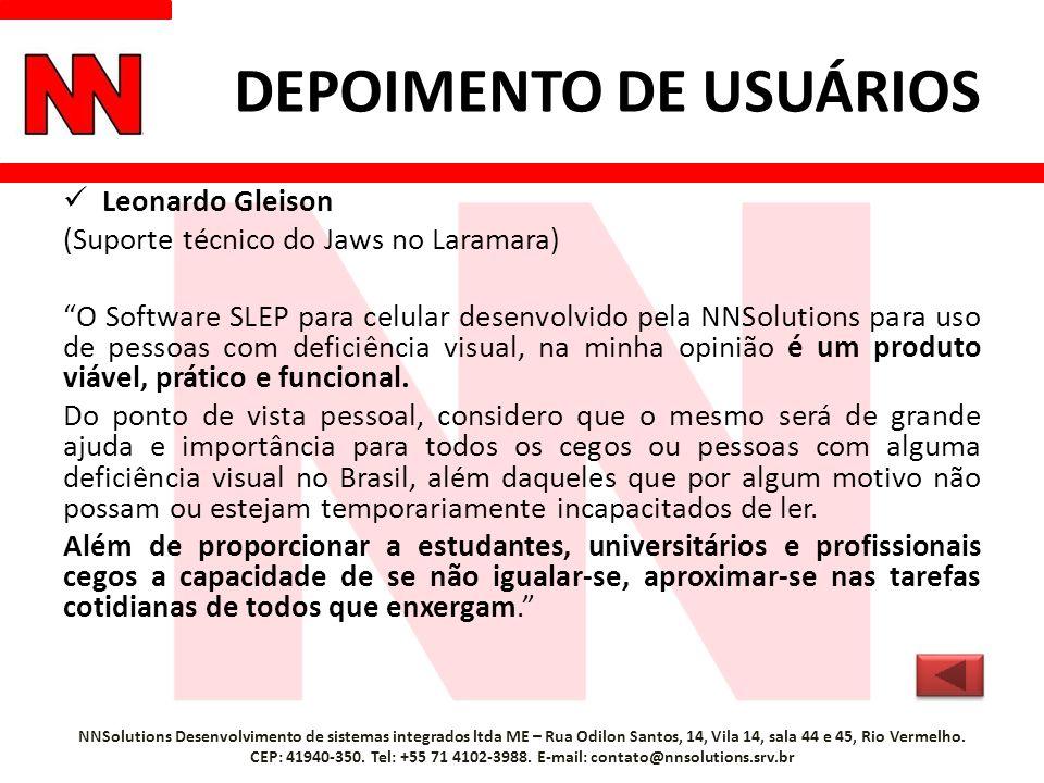 DEPOIMENTO DE USUÁRIOS