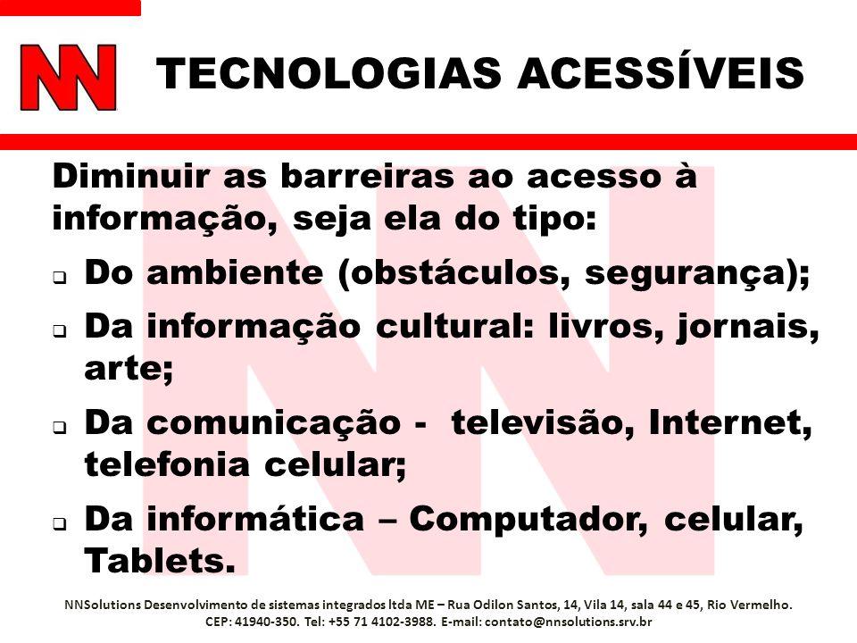 TECNOLOGIAS ACESSÍVEIS